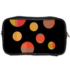 Orange abstraction Toiletries Bags