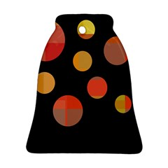 Orange abstraction Bell Ornament (2 Sides)