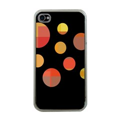 Orange abstraction Apple iPhone 4 Case (Clear)