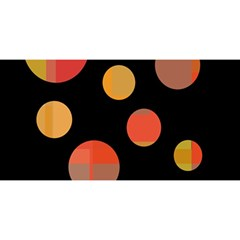 Orange abstraction YOU ARE INVITED 3D Greeting Card (8x4)