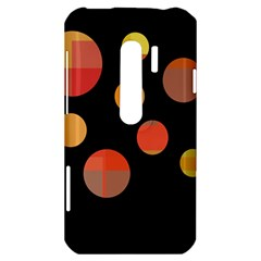 Orange abstraction HTC Evo 3D Hardshell Case