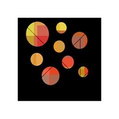 Orange abstraction Acrylic Tangram Puzzle (4  x 4 )