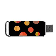 Orange abstraction Portable USB Flash (One Side)