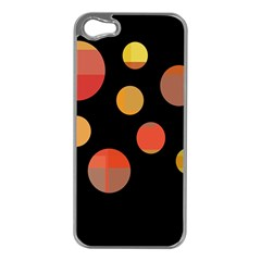 Orange abstraction Apple iPhone 5 Case (Silver)