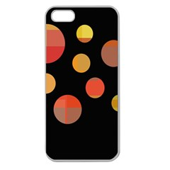 Orange abstraction Apple Seamless iPhone 5 Case (Clear)