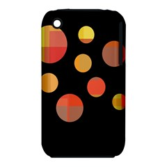 Orange abstraction Apple iPhone 3G/3GS Hardshell Case (PC+Silicone)