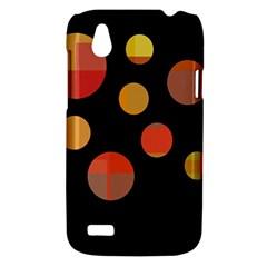 Orange abstraction HTC Desire V (T328W) Hardshell Case