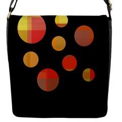 Orange abstraction Flap Messenger Bag (S)