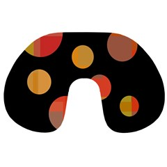 Orange Abstraction Travel Neck Pillows
