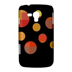 Orange abstraction Samsung Galaxy Duos I8262 Hardshell Case