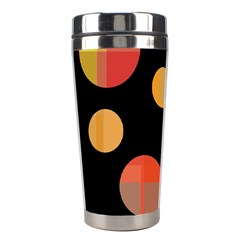 Orange abstraction Stainless Steel Travel Tumblers