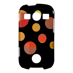 Orange abstraction Samsung Galaxy S7710 Xcover 2 Hardshell Case