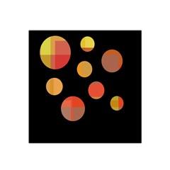 Orange abstraction Satin Bandana Scarf