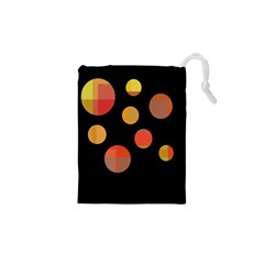 Orange Abstraction Drawstring Pouches (xs)