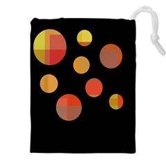 Orange abstraction Drawstring Pouches (XXL)