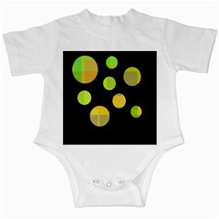 Green abstract circles Infant Creepers