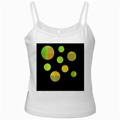 Green abstract circles Ladies Camisoles