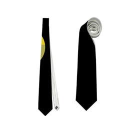 Green abstract circles Neckties (One Side)