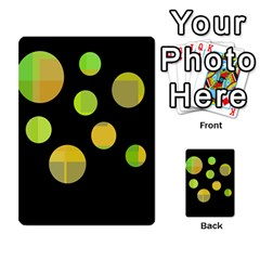 Green abstract circles Multi-purpose Cards (Rectangle)