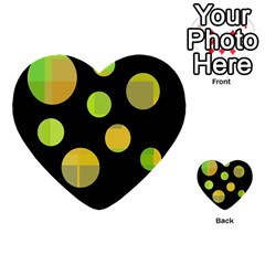 Green abstract circles Multi-purpose Cards (Heart)