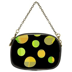 Green abstract circles Chain Purses (One Side)