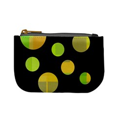 Green abstract circles Mini Coin Purses