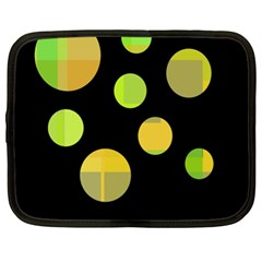 Green abstract circles Netbook Case (XL)