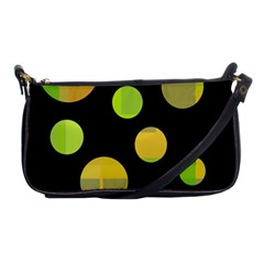 Green abstract circles Shoulder Clutch Bags