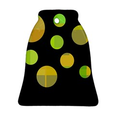 Green abstract circles Ornament (Bell)