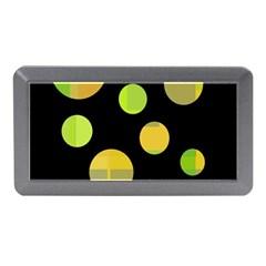 Green abstract circles Memory Card Reader (Mini)