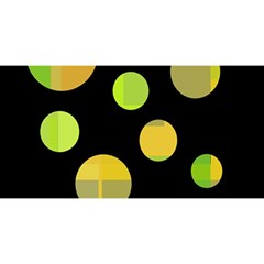 Green Abstract Circles You Are Invited 3d Greeting Card (8x4)