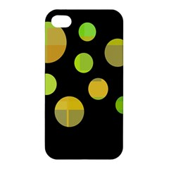 Green abstract circles Apple iPhone 4/4S Hardshell Case