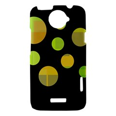 Green abstract circles HTC One X Hardshell Case