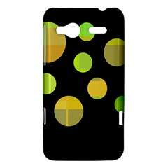 Green abstract circles HTC Radar Hardshell Case