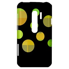 Green abstract circles HTC Evo 3D Hardshell Case