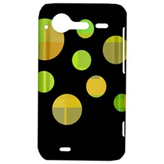 Green abstract circles HTC Incredible S Hardshell Case