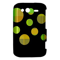 Green abstract circles HTC Wildfire S A510e Hardshell Case