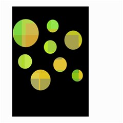 Green abstract circles Small Garden Flag (Two Sides)