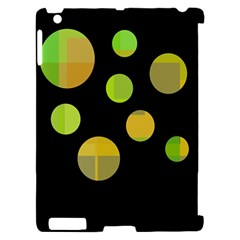 Green abstract circles Apple iPad 2 Hardshell Case (Compatible with Smart Cover)