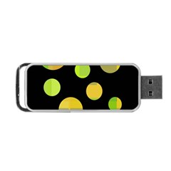 Green abstract circles Portable USB Flash (One Side)