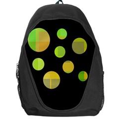 Green abstract circles Backpack Bag