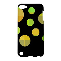 Green abstract circles Apple iPod Touch 5 Hardshell Case