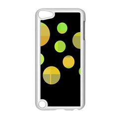 Green abstract circles Apple iPod Touch 5 Case (White)