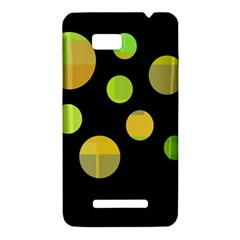 Green abstract circles HTC One SU T528W Hardshell Case