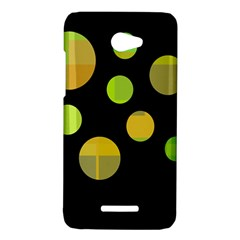 Green abstract circles HTC Butterfly X920E Hardshell Case