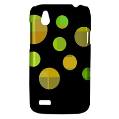 Green abstract circles HTC Desire V (T328W) Hardshell Case