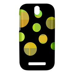 Green abstract circles HTC One SV Hardshell Case