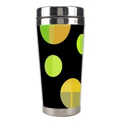 Green abstract circles Stainless Steel Travel Tumblers
