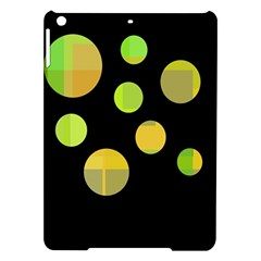 Green abstract circles iPad Air Hardshell Cases