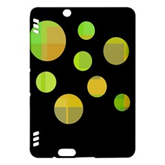 Green abstract circles Kindle Fire HDX Hardshell Case
